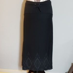 Athleta Black Embroidered Skirt